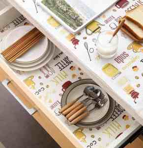 Drink-Inspired Kitchen Shelf Liner