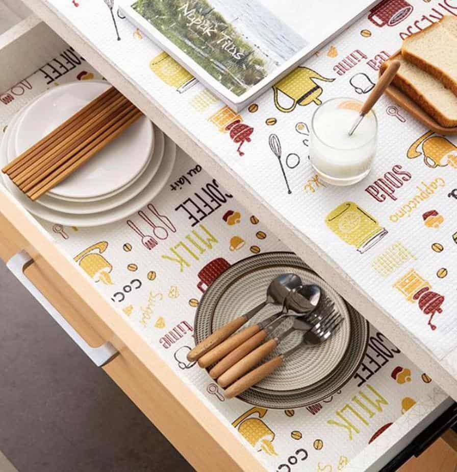 Drink-Inspired Kitchen Shelf Liner