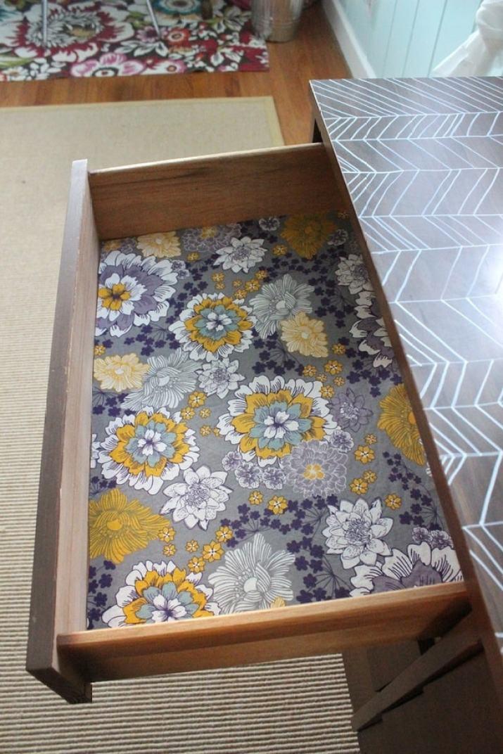 Floral Kitchen Shelf Liner