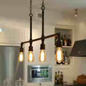 Pipe-Like Industrial Kitchen Lighting