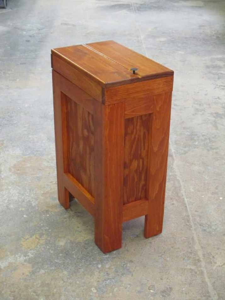 Timber Kitchen Trash Can