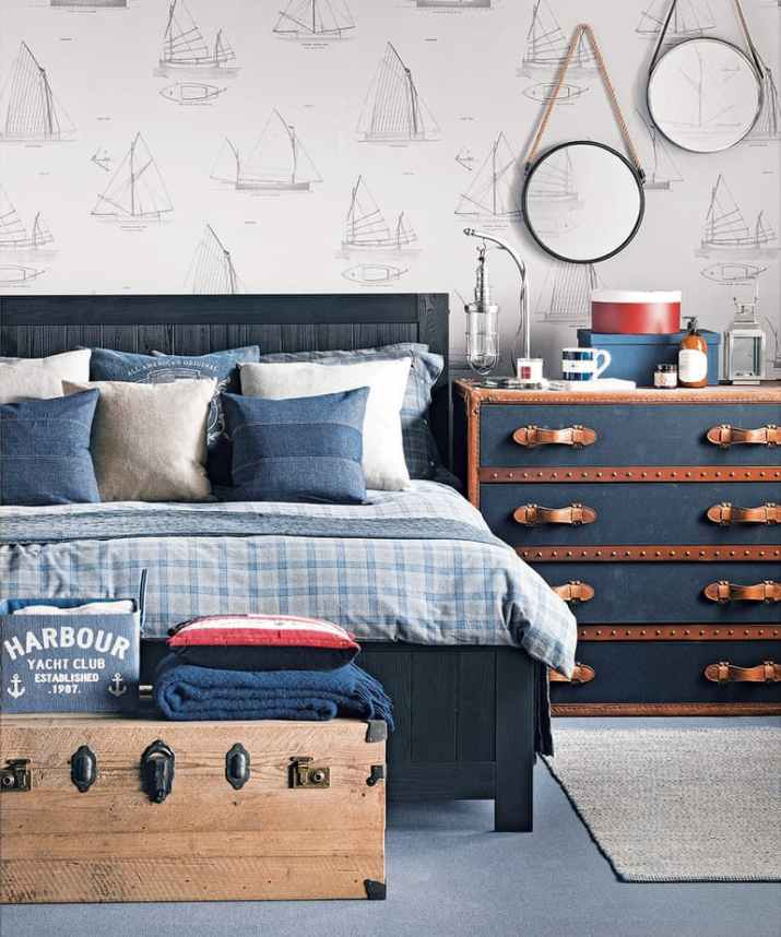 Nautical Bedroom Accent Wall