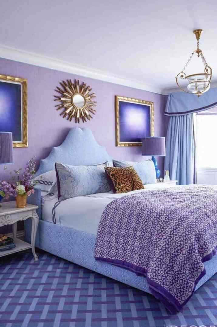 Bright Purple Bedroom