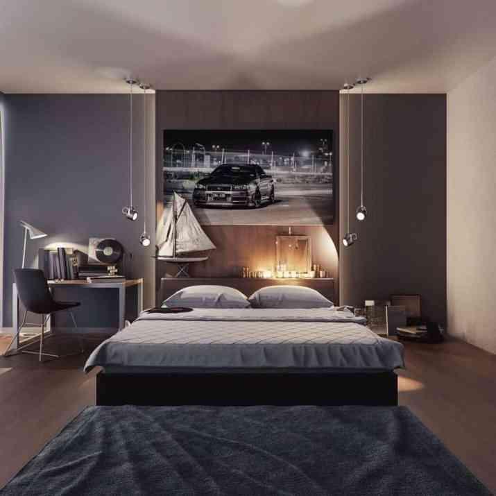 Clever Grey Bedroom
