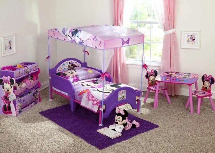 Minnie Mouse Princess Bedroom