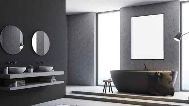 Grey Bathroom with Cute Items