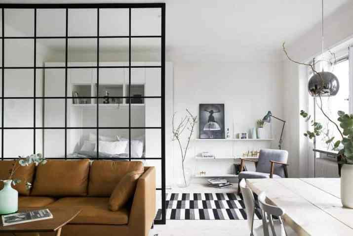 Metallic Squares Room Divider