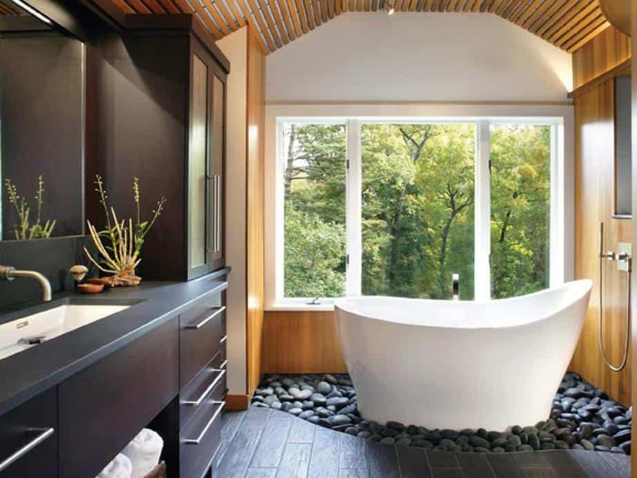 Trendy Ceiling for Spa Bathroom