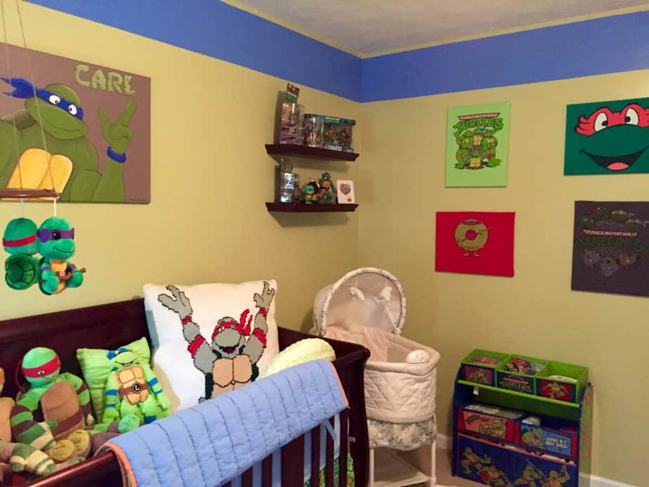 Playful Ninja Turtles Bedroom