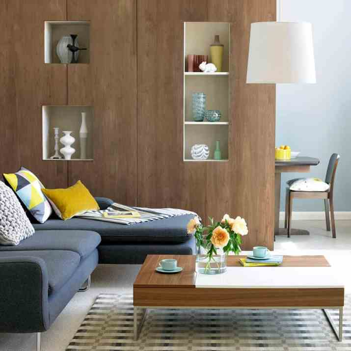 Timber Boards as Room Divider