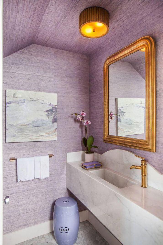 Lavender Bathroom Ceiling