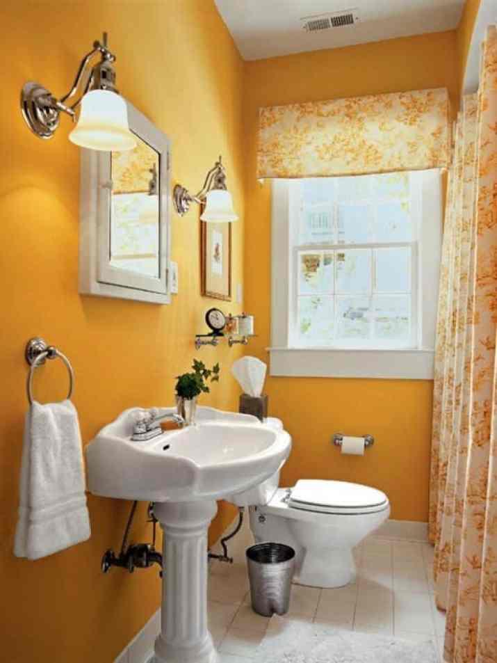 Orange Curtain and Valance