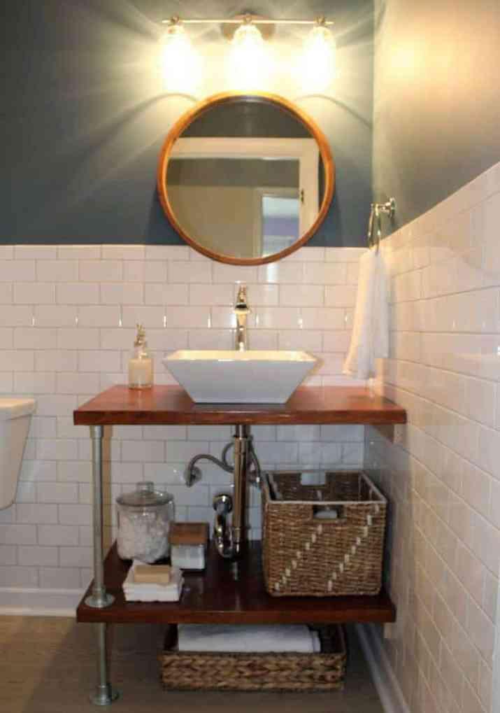 Combined DIY Bathroom Vanity