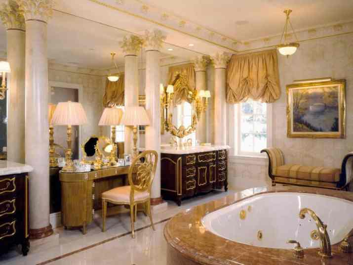 Decorative Ceiling for Gold Bathroom