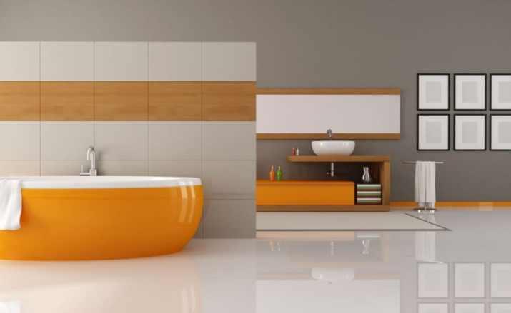 Spacious Grey Bathroom