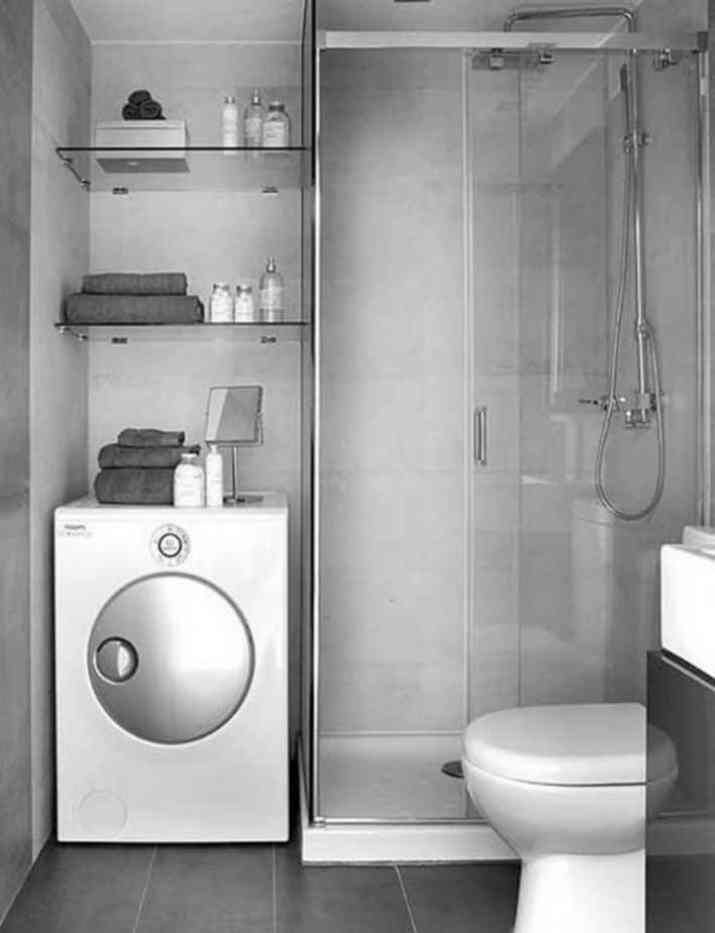 Multifunctional Grey Bathroom