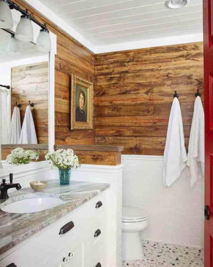 Warm Bathroom Baseboard