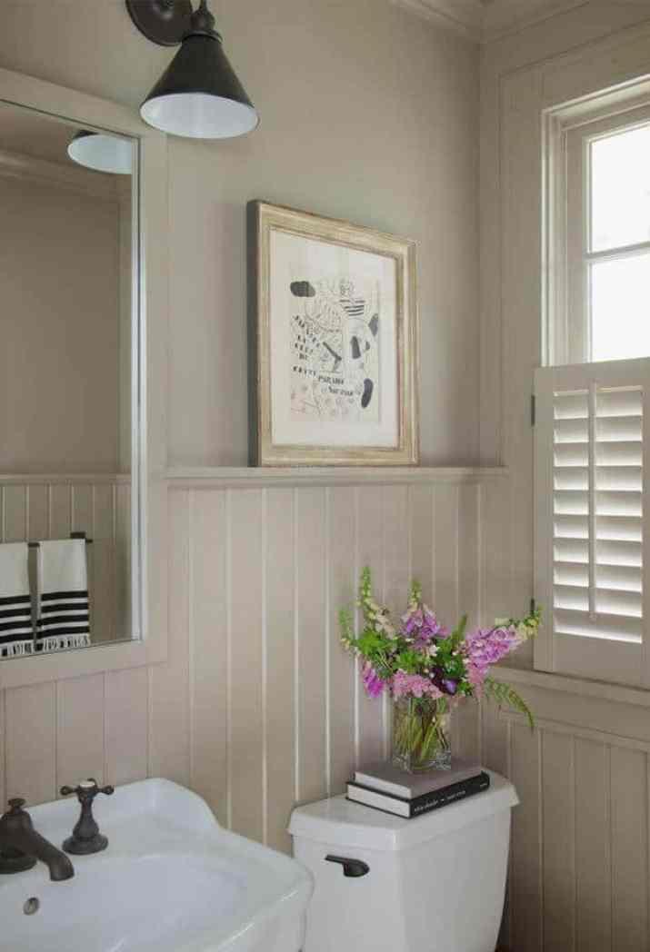 Soft Beadboard Bathroom