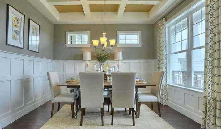 Coffered ceiling dining room