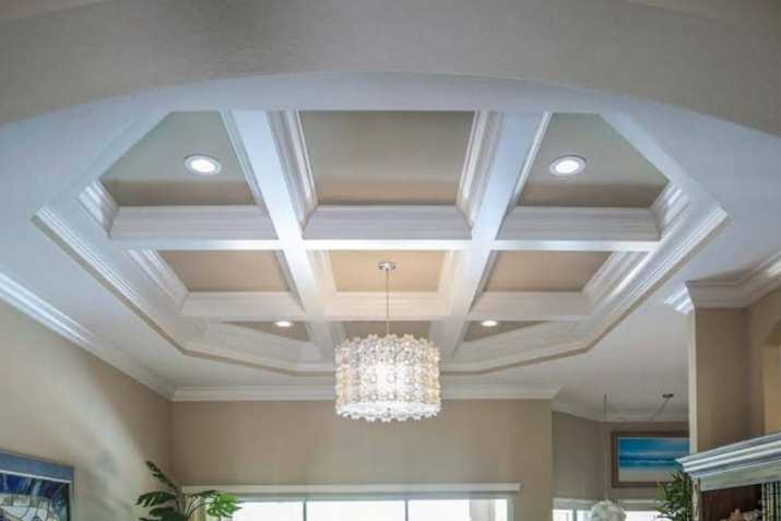 Coffered ceiling lighting