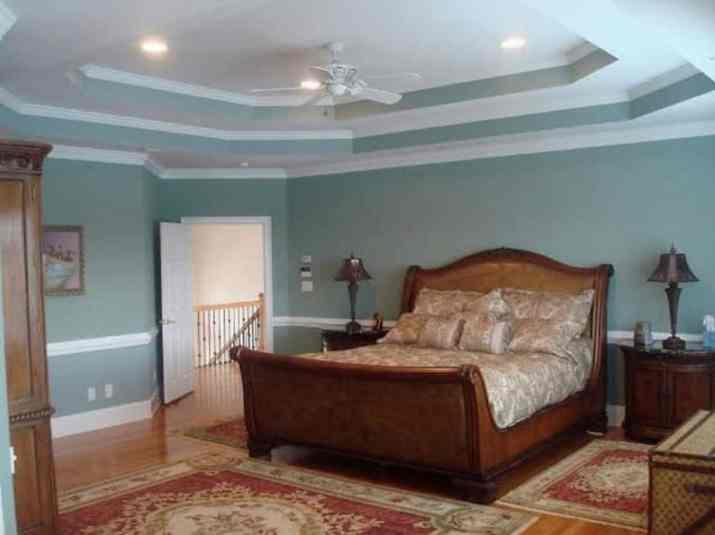 Double tray ceiling paint idea