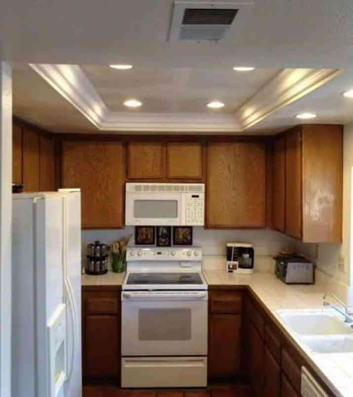 Kitchen tray ceiling