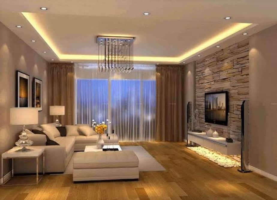 Tray ceiling lighting idea