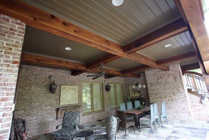 bright Wood Ceiling Ideas for Porch