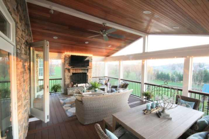 comfortable Wood Ceiling Ideas for Porch