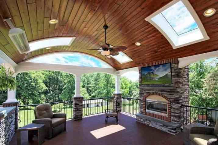 good Wood Ceiling Ideas for Porch