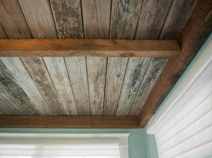 rustic Wood Ceiling Ideas for Basement