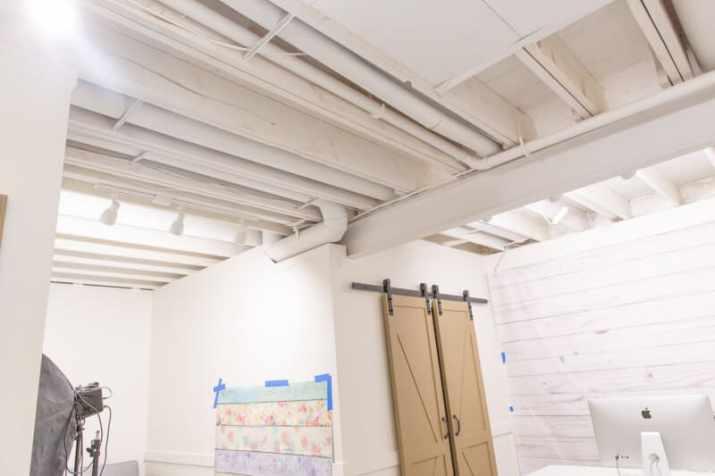 foam board basement Ceiling Ideas with Access