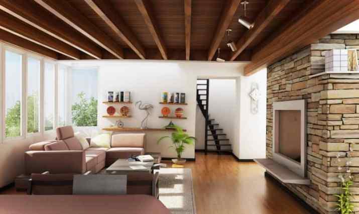 modern Wood Ceiling Ideas for Living Room