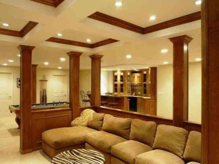luxurious Creative Basement Ceiling Ideas