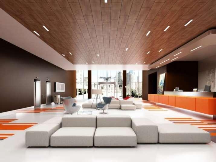 Modern Wood Ceiling Ideas with modern lighting