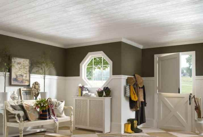 White Wood Ceiling Ideas with elegant look