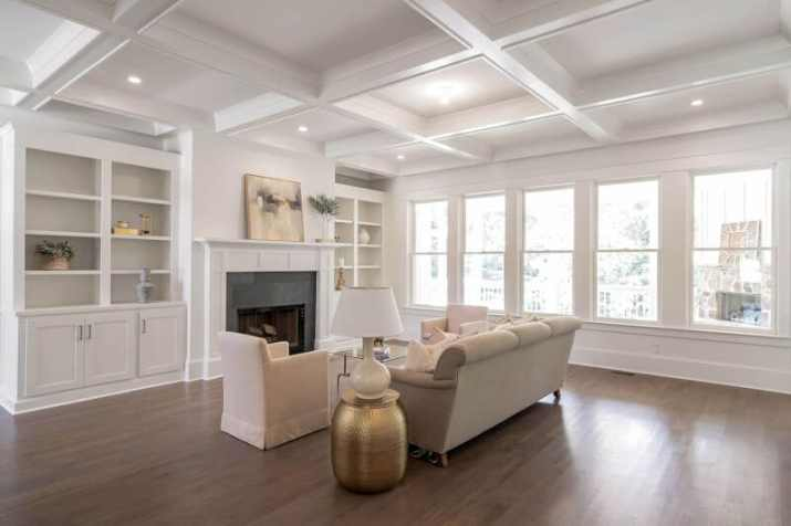 White Wood Ceiling Ideas with white walls