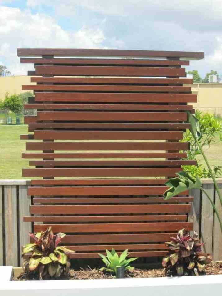 Unusual Wood Privacy Screen