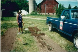 Liza Lightfoot during the early days of Avant Landscaping and Gardening