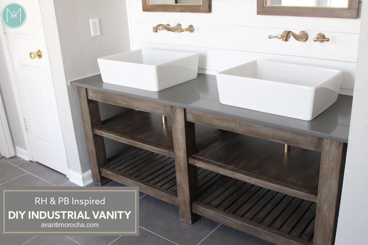 DIY Industrial Bathroom Vanity  Avanti Morocha