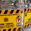 road work near sm shetty school