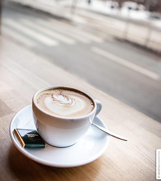 Cafetorian pieni cappuccino, © avaruusasema