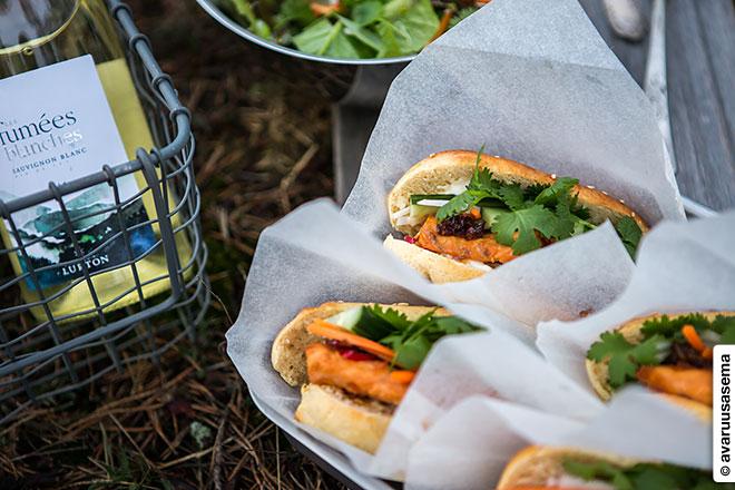 Vappu piknik - lohi banh mi, © avaruusasema.com