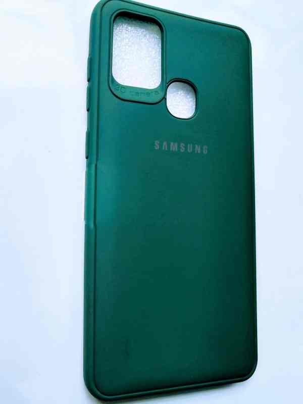 Samsung Galaxy A21s Leather Cover Dark Green Colour - dark Green leather Cover
