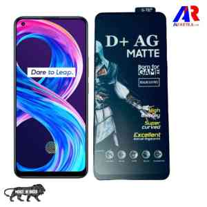 Realme 8/Realme 8 Pro Matte Tempered Glass For GAMERS (Gaming Edition)|D+ AG Matte Gaming Tempered Glass Edge to Edge Screen Guard Protector with back Skin (BORN FOR GAMER)