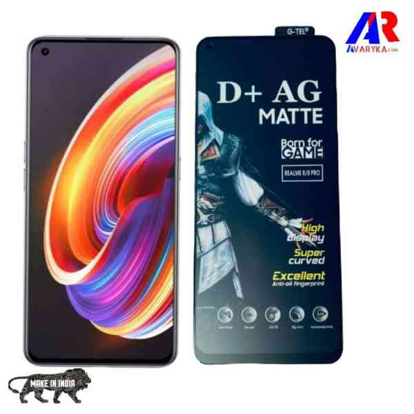 Realme X7/Realme X7 Pro Matte Tempered Glass and Back Skin Combo Free For GAMERS