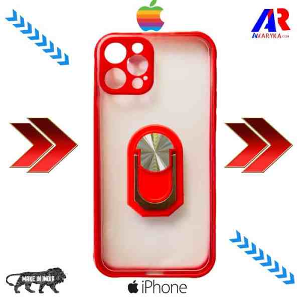 iPhone 12 Pro Back Cover With Camera Bump Protector (Red Color)   iPhone 12 pro Smoke back cover