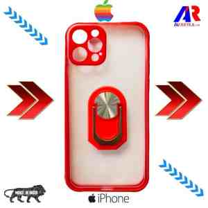 iPhone 12 Pro Back Cover With Camera Bump Protector (Red Color) | iPhone 12 pro Smoke back cover