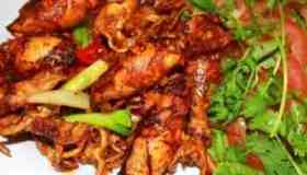 Grilled squid with shacha sauce