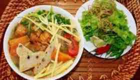 Bun Cha Ca (Fishcake Noodles Soup)